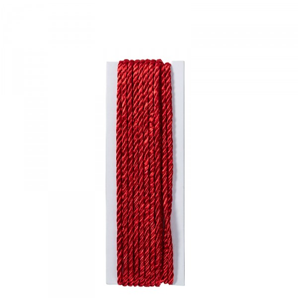 Satinkordel 2 mm rot