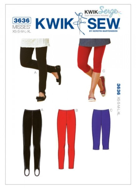 K3636 Damen Leggings, KwikSew