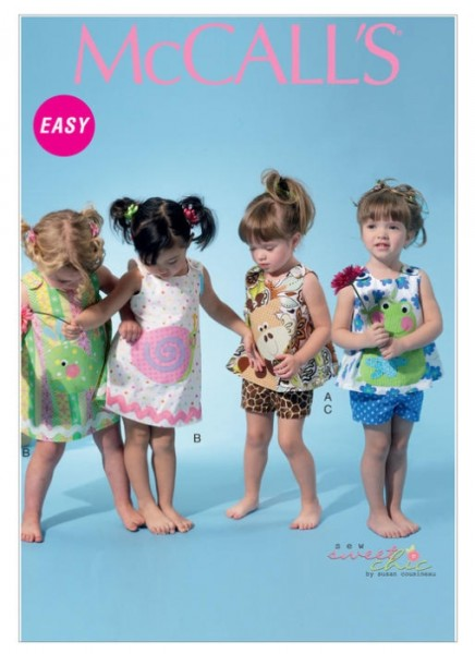 M6541 Kinder Applikationen Top Shorts Kleid, McCalls