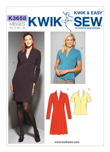 Damen Top Kleid, KwikSew K3658