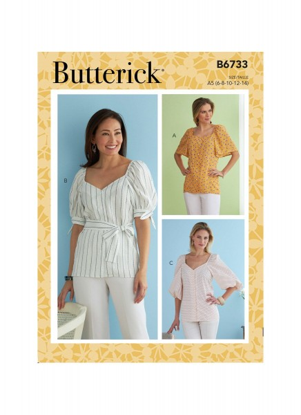 B6733 Damen Top, Butterick