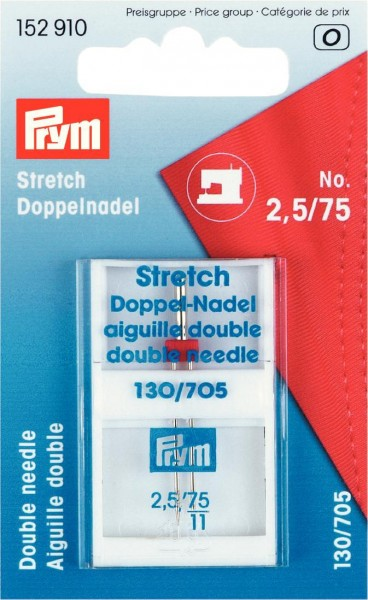 Doppel-Nähm.-Nadel 130/705 Stretch 75/2,5 mm