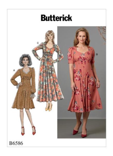 B6586 Damen Kleid, Butterick