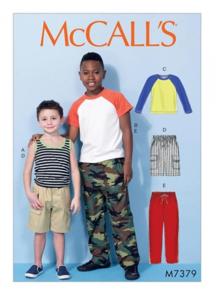 M7379 Kinder Top Hose Shorts Trägertop, McCalls