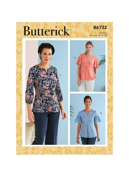 B6732 Damen Top, Butterick