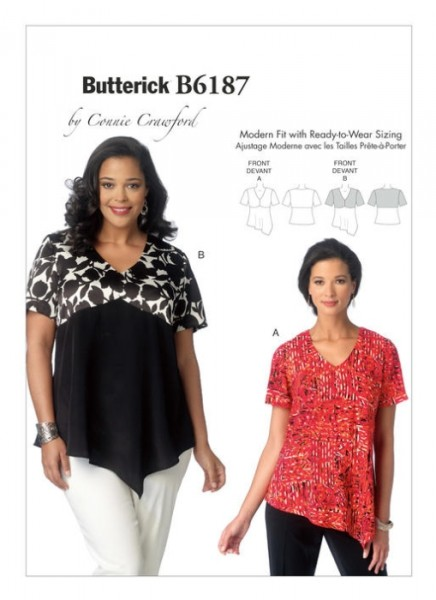 B6187 Damen Top, Butterick
