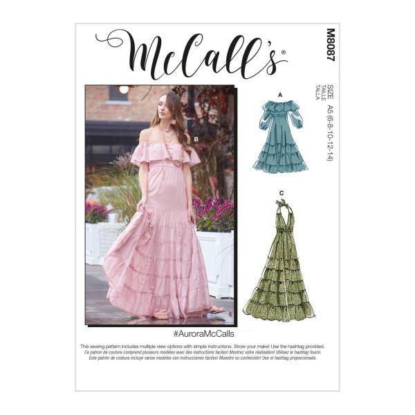 M8087 Damen Kleid, Schnittmuster von McCalls