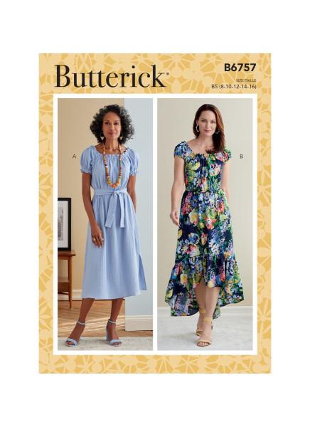 B6757 Damen Kleid Schärpe, Butterick