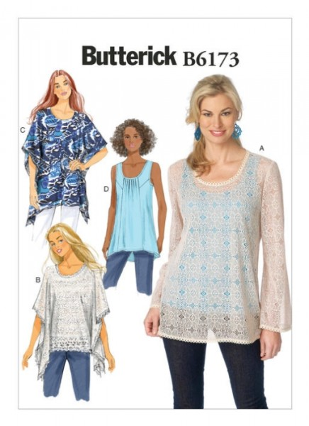 B6173 Damen Pullover Top, Butterick