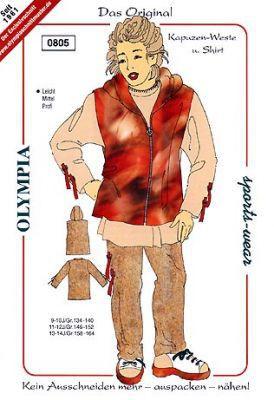 0805 Kapuzen-Weste und Shirt, Olympia