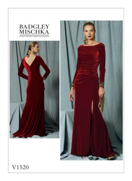 V1520 Damen Perlen Kleid, Vogue