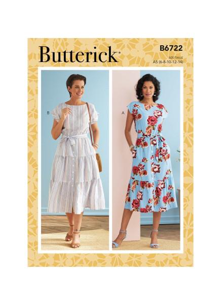 B6722 Damen Kleid, Butterick