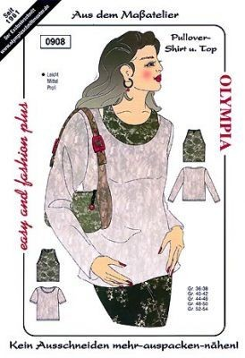 Schnittmuster Olympia 0908 Pullover-Shirt und Top