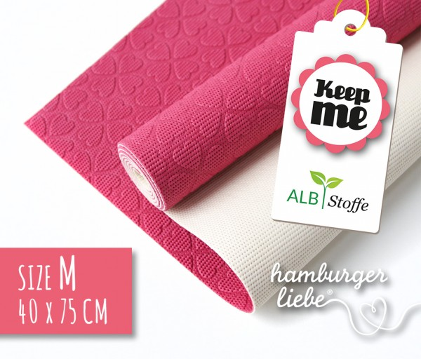 KEEP ME Anti-Rutsch-Matte pink/weiß
