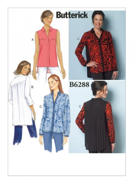 B6288 Damen Shirts, Butterick